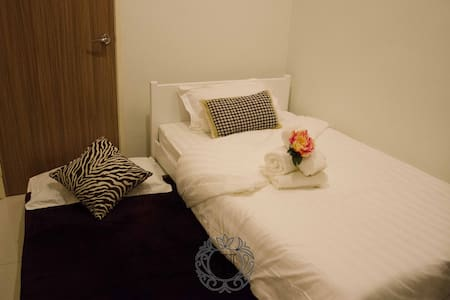 Ground floor bedroom, no steps to enter, wide doors, wide space around bed, attached bathroom and toilet