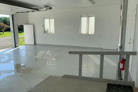 """The first pic shows how wide the door is. It is 36"""" wide.  This pic shows how wide the ramp is."""