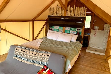 Walkway next to bed is wide