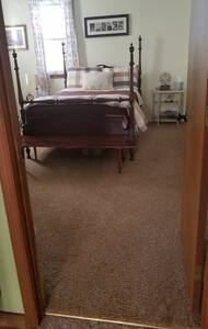 This bedroom is 8 ft. from the front door.