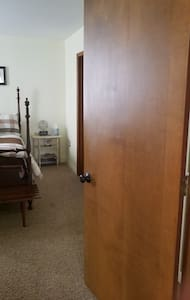 There is a 32 inch door to enter the bedroom.