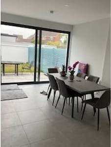 There is a ramp from garden up to patio doors and a ramp also over patio door entrance for ease of access  Double patio doors giving an extra wide entry way also
