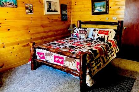 Queen size bed in  master's bedroom