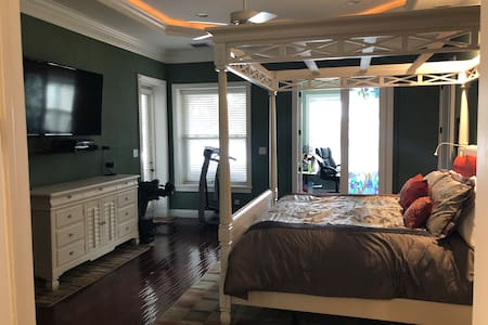 Large master suite. Double door entry to master and master bathroom.