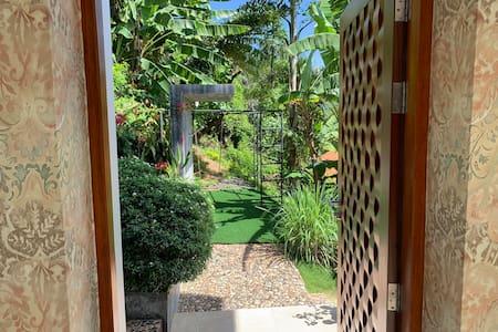 Wide entrance door.
