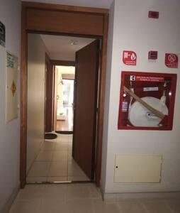 La entrada al departamento