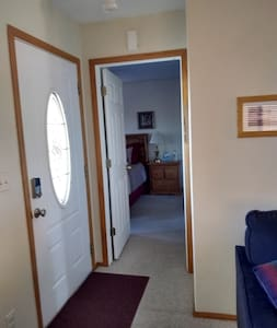 Smooth entry into bedroom from the living room.