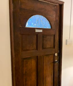 Entrance door from the inside, 3 ft