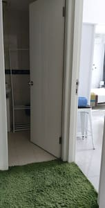 room and bathroom entrance
