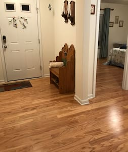 One level throughout home from front door to bedroom and bathroom
