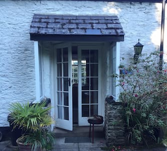 Double French doors / front door with one step to enter