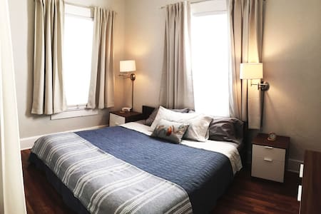 Once you are inside the house, it's smooth and no steps to get into the bedroom.  The platform bed is LOW to the ground.
