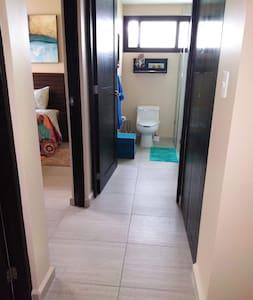 "Bedroom and bathroom entrance/doorways are 32"" wide"
