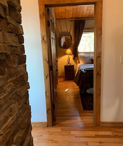 """Upper level guest room entry, 30"""" wide"""