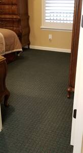 walking into bedroom, no stairs
