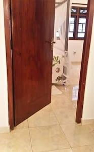 Level access, no step, wide doorway