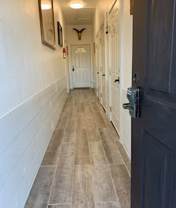 """Hallway entrance to each bedroom is 44""""wide."""