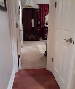Wide door into the room. Single level.