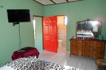 """This entrance to the bedroom is 36"""" wide but there is a 8"""" step down to the living area."""
