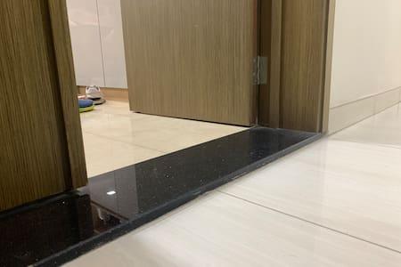 Entrance door is 120cm width