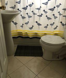 Extra space around toilet
