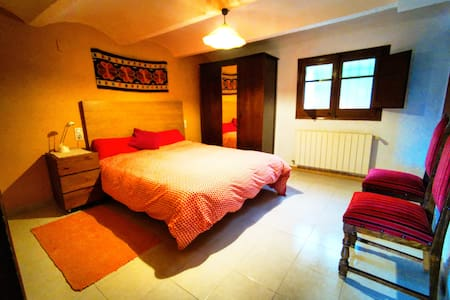 Habitación sin escalón de la casa rural de Can Micos