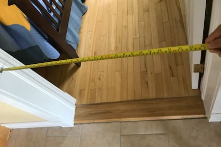 Entrance to doorway is 34 inches