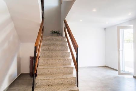 Stairs to move from the first floor to the second floor.