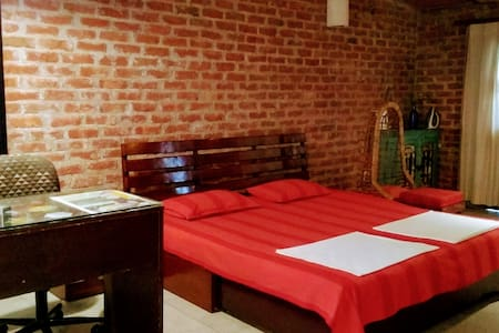 The bed room.