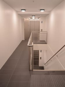 There is full lift access to the apartment, and there are no other stairs inside the apartment.