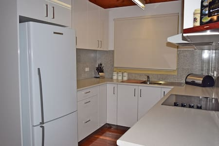 No stairs into kitchen