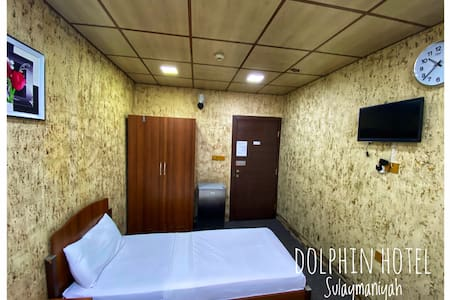 Single bed with private bathroom and toilet. + Tv, fridge,Air conditioner,