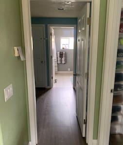"""Interior doorways are just over 33"""" wide."""
