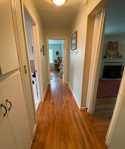 Guest hallway.