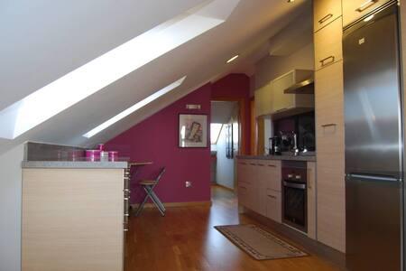 loft amplio y muy cómodo para movilizarse solo puerta para cada habitación y baño, resto diáfano