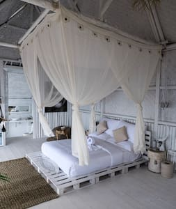 Large open air room at Tropical Glamping