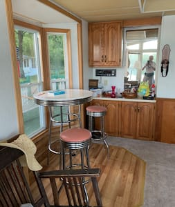 Living room and kitchen accessible from the porch plus one bedroom is directly accessible from porch also.