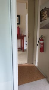 Entrance to second bathroom off open plan living area