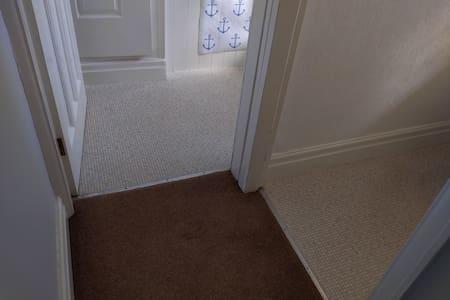 Landing Woollen Carpet to Toilet and Bathroom.