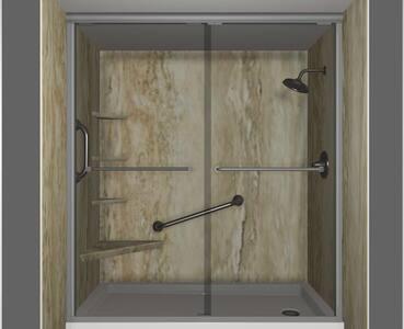 Barras de segurança fixas para chuveiro