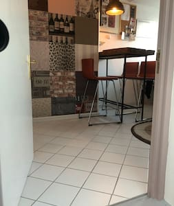 Entrance to apartment in kitchen area