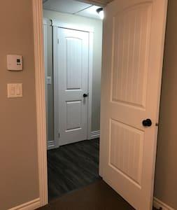 Bathroom doorway is 36 inches wide.