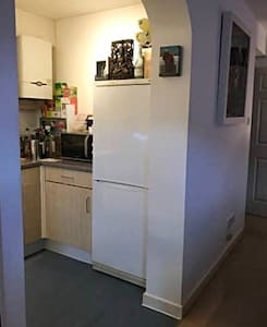 Easy access from the lounge to the kitchen.