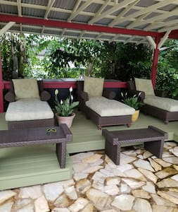 no stairs to reach this relaxing deck next to the pool