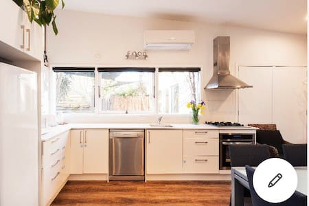 Spacious kitchen, wide access from living room to kitchen