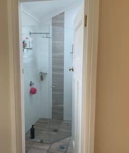 Wide entrance to bathroom