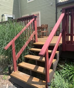 """40"""" wide, there are steps however."""
