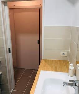 Sliding door and wide entrance