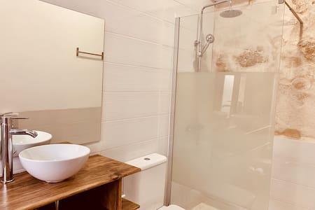 Baño con ducha a ras de suelo