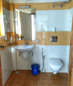 There is ample space around the toilet for easy movement